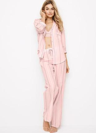 Полосатая фланелевая пижама виктория сикрет (оригинал)