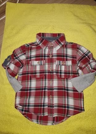 Стильная и качественная рубашка на модника 12-18 мес gap