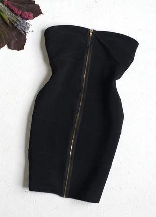Стильное бюстье бандажное платье