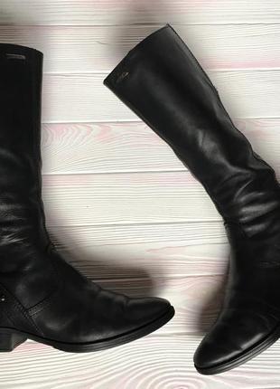 Высокие ботфорты сапоги ботинки кожаные натуральная 100% кожа geox 40р 26,5см