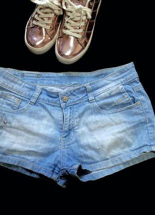 Короткие джисовые летние шорты, высокая талия на лето