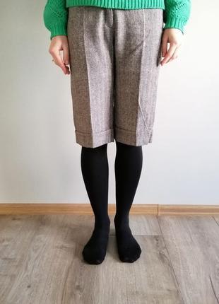Тёплые шерстяные шорты кюлоты