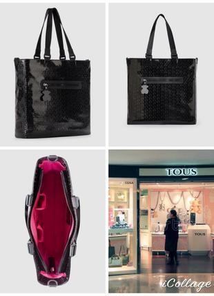 Фирменная, испанская, сумка шопер, высокого качества, вместительная, кросбади