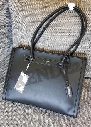 #3922 black david jones женская стильная деловая сумка c широким отделением