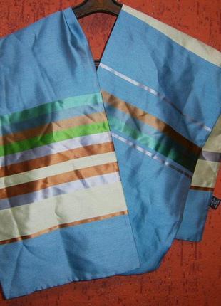 Красивый двухсторонний шарф из плотного шелка шелк