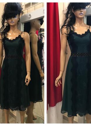 Елегантна сукня міді з мереживом miss selfidge