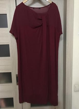 Шикарное платье marina rinaldi, италия, размер 58-60