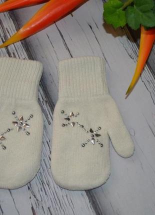 Теплые двойные рукавички варежки на 2-5 лет