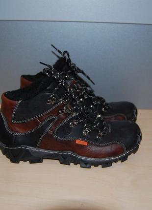 Ботинки зимние из натурального нубука 39й размер 25см стелька