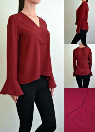 Актуальная блуза марсала