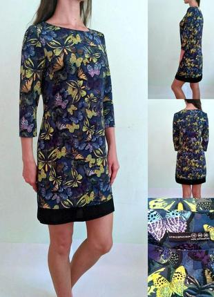 Базовое платье по фигуре в бабочках 121