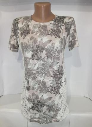 Нарядная блузка футболка с кружевом по бокам next uk 8 / 36 / xs