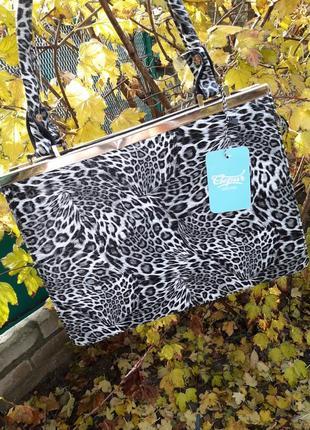Стильная леопардовая сумка gepur