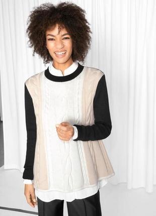 Новый вязаный трикотажный  свитер джемпер кофта  s/m
