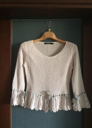 Ажурный вязаный свитерок от inwear  размер s