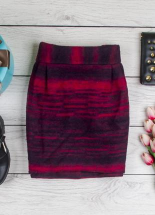 Теплая шерстяная юбка от asos рр 10 наш 44