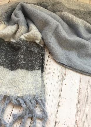 Объёмный тёплый шарф/палантин/шаль