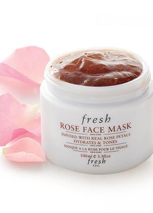Люкс! маска для лица с розой от fresh