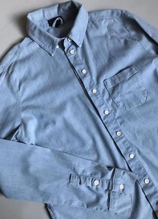 Джинсовая рубашка блуза s-m