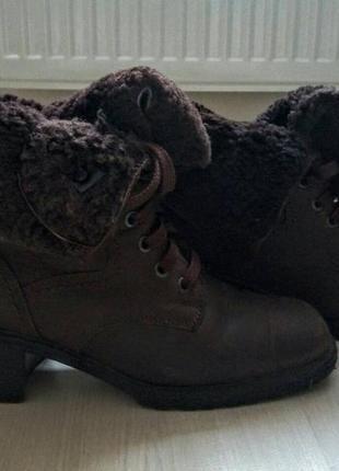 Зимнии кожаные ботинки