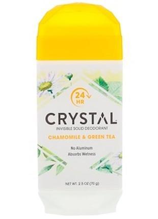 Дезодорант в стике crystal минеральный ромашка зеленый чай твердый кристал кристалл