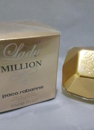 Aco rabanne lady million женская парфюмированная вода 30мл.оригинал.