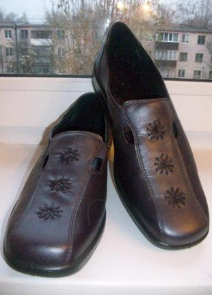 Туфли женские натуральная кожа hotter р.43
