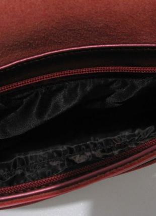 Женский кожаный клатч (красный перламутровый) 18-11-0064