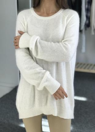 Теплый свитер с ангорой h&m 40-42