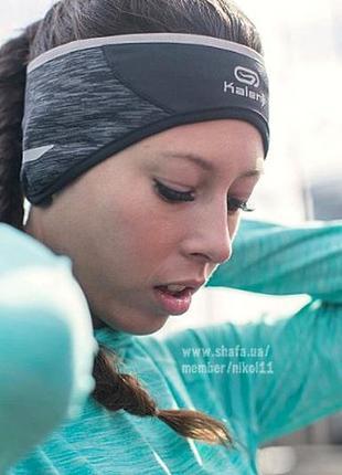 Спортивная беговая повязка на голову kalenji зимняя для бега для занятий спортом флис