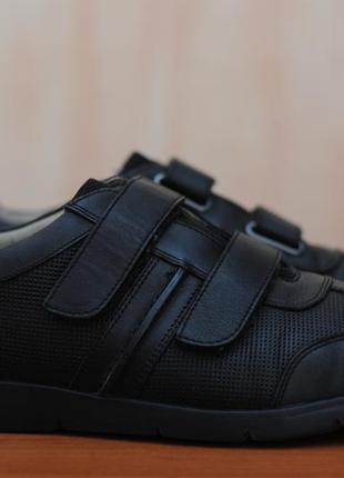 48bae521 Черные кожаные мужские кроссовки, кеды, туфли на липучках clarks. 43 - 44  размер