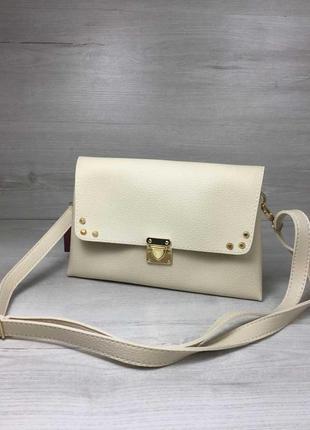 Акция!!  женская сумка- клатч келли бежевого цвета