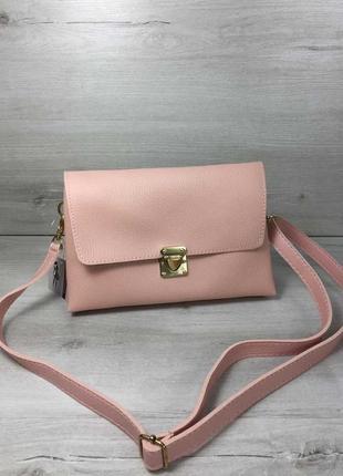 Акция!!  женская сумка- клатч келли пудрового цвета