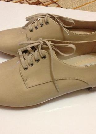 Лаковые туфли clarks uk6