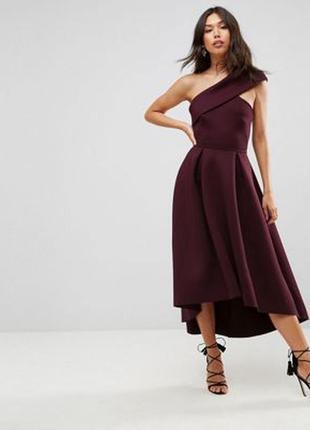 Сливовое платье миди asos,р-р 8