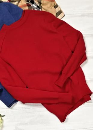 Красный шерстяной свитер 171023 размер м/l
