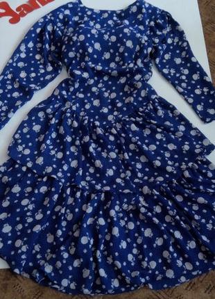 Платье синее 48 50 размер миди бюстье топ скидка sale