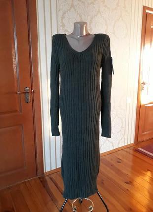 M,l   на высокую девушку  италия супер качество 👍🏻 тёплое вязаное платье водолазка