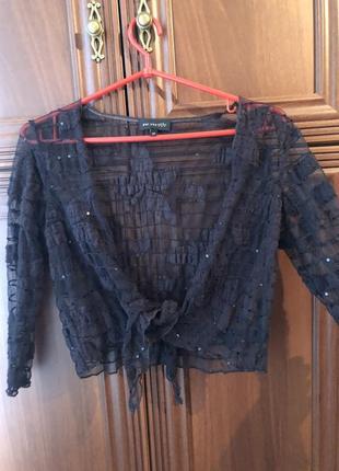 Милая коричневая кофта на завязке l блуза