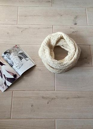 Теплый ажурный хомут снуд шарф ручная работа