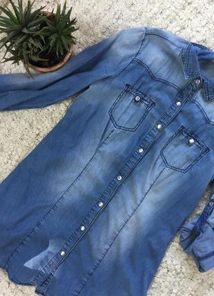 Актуальная джинсовая рубашка dorothy perkins