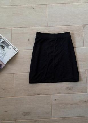 Базовая юбка мини трапецией р. m l