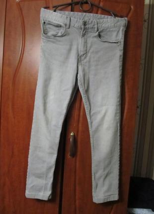 Молодежные джинсы skinny с высокой посадкой