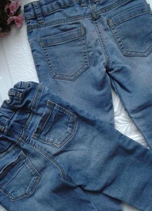 Набор джинсов-скинни george, есть утяжка, 98-104 см, 3-4 года3