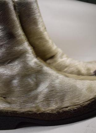 Зимие сапоги ботинки мех нерпы+овчина р.5 на р.38 24,5 как новые