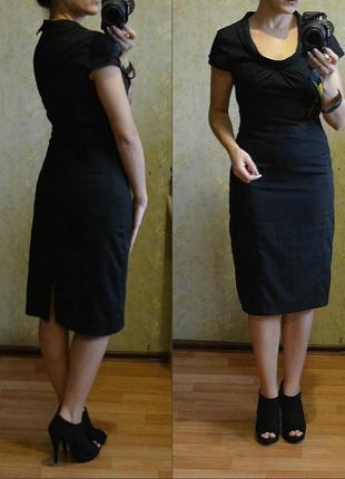 !!!окончательная распродажа!!! черное платье футляр длины миди warehouse