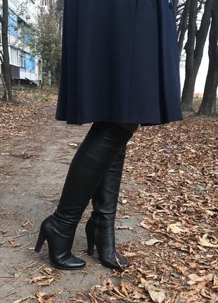 Кожаные сапоги ботфорты итальянского бренда medea