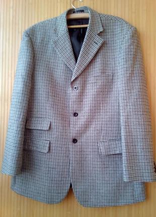 Пиджак шерстяной большой размер