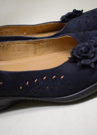 Кожаные туфли мокасины лоферы как новые hotter р.41 1/2 27,5 см