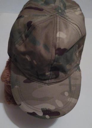 Катоновая камуфляжная кепка хаки для ребенка или подростка, для игры в пейнтбол рр 55-56